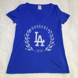 VS PINK LA Dodgers Blue Top